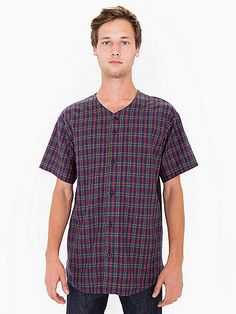 Flannel Baseball Jersey  (Nate)