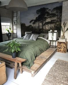 Home Bedroom Design Home Decor Bedroom, Modern Bedroom, Bedroom Furniture, Rustic Bedrooms, Bedroom Ideas, Large Bedroom, Bedroom Styles, Bedroom Designs, Bedroom Inspiration