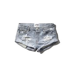 Abercrombie & Fitch One Teaspoon Bandits Shorts ($66) ❤ liked on Polyvore featuring shorts, abercrombie, jeans, destroyed light wash, torn shorts, pocket shorts, abercrombie & fitch, distressed shorts and ripped shorts
