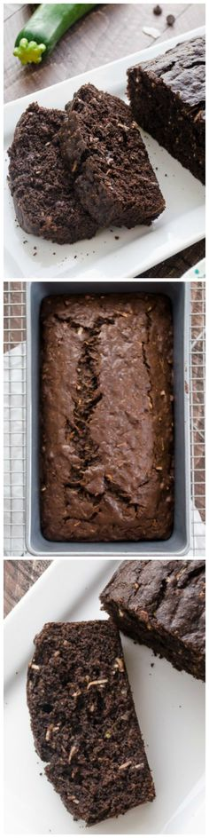 Dark Chocolate Coconut Zucchini Bread - healthier whole wheat quick bread packed with grated zucchini, coconut, and big chocolate flavor!