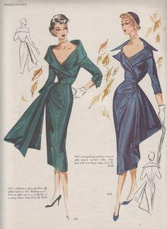 Vintage Fashion Modes Royale Pattern Catalogs Available in Adobe Pdf File Format Vintage Outfits, Vintage Gowns, Vintage Clothing, Dress Vintage, 1950s Style, Patron Vintage, Moda Retro, Magazine Mode, Fashion Illustration Vintage