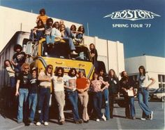 The Original Group photo of Boston Rock Roll, Rock And Roll Bands, Great Bands, Cool Bands, Soft Rock Music, Brad Delp, Tom Scholz, Music Pics, 70s Music