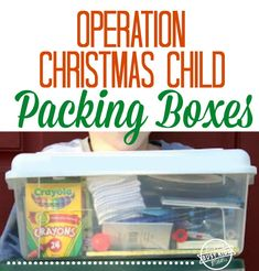 Packing Boxes for Operation Christmas Child
