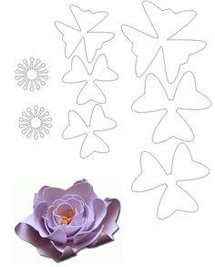 flower template new - godparent proposals Giant Paper Flowers, Diy Flowers, Fabric Flowers, Felt Flowers Patterns, Flower Template, Leather Flowers, Flower Tutorial, Handmade Flowers, Flower Crafts