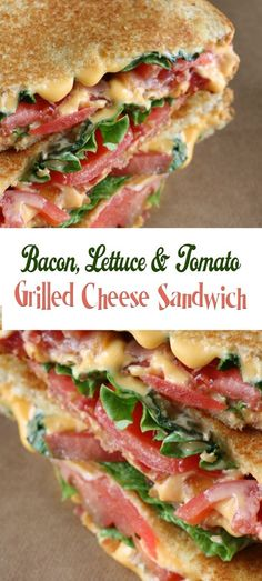Bacon, Lettuce, and Tomato Grilled Cheese Sandwich