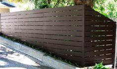 modern horizontal fence.JPG provided by Harwell Fencing Gates Inc. - Los Angeles Santa Monica 90403