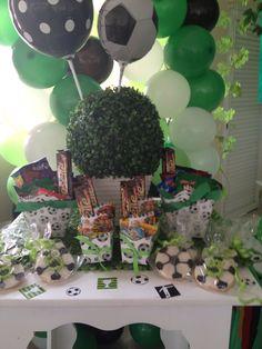 Fiesta de futbol Football Crafts, Ideas Para Fiestas, Holiday Parties, Party Time, Valentino, Baby Boy, Soccer, Birthday, Happy