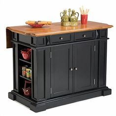 Special Offers - Home Styles 5003-94 Kitchen Island Black and Distressed Oak Finish - In stock & Free Shipping. You can save more money! Check It (May 20 2016 at 04:46PM) >> http://storagecabinetusa.net/home-styles-5003-94-kitchen-island-black-and-distressed-oak-finish/