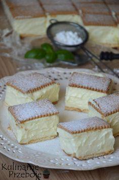 napoleonka na herbatnikach Cute Desserts, No Bake Desserts, Delicious Desserts, Yummy Food, Baking Recipes, Cake Recipes, Dessert Recipes, 5 Ingredient Desserts, Sweet Bakery