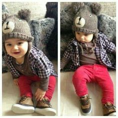 My little fashionista.  Little boy fashion #kids fashion baby you got swag.  Cute. Love