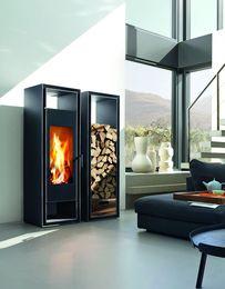 Nowoczesny piec wolnostojący Gate 2.0 z systemem rlu można zamontować w domach energooszczędnych, pasywnych i z rekuperacją.