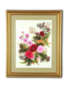 Pressed Flower Gifts | Give the Lasting Gift of Pressed Hollyhock Flowers - Center - Gifts ...