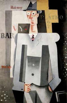 1920 self portrait (Mr. Myself) by Josef Čapek Born in Hronov, Bohemia (Austria-Hungary, now Czech Republic). Henri Matisse, Illustrations, Illustration Art, Collages, Chaim Soutine, Georges Braque, Spanish Painters, Writers And Poets, Constructivism