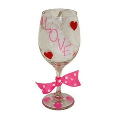 "Design Your Own Valentines Wine Glass, even ""Will You Marry Me?"" :) mrsmckenziesmonograms.com"