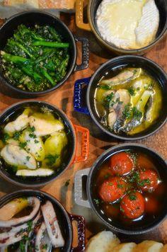 ストウブで「菜の花とプチトマトのアヒージョなど」簡単カマンベールフォンデュも ジュンジュンの「おいしいモン」