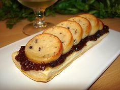 Tartelettes boudin blanc et chutney de figues au raisin