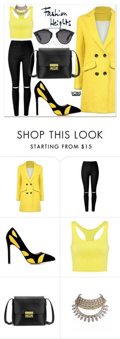 """""""OOTD x YOINS"""" by gigi-lucid ❤ liked on Polyvore featuring Christian Dior, yoins, yoinscollection and loveyoins"""