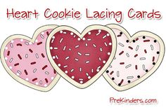 Lacing cards for Valentines Day