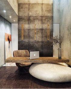 When stone + wood perfectly combine. #MEDRestaurant design by @makhno_design. #MODLARHQ