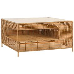 Tropix Collection coffee table in synthetic rattan by iBalDesigns http://ibaldesigns.com/