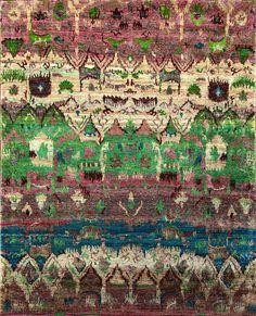 Rugsville Green Sari Silk Rug 30005