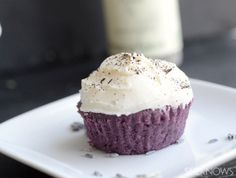 Lavender cupcakes with earl grey icing