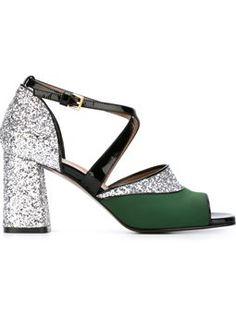 'One band' glitter sandals $824 #TodaySale #relevant #marniDesigner
