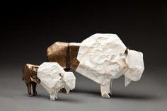 White Bison (small & medium, bronze)   American artist Robert J. Lang Origami