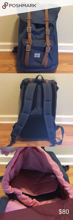 """Herschel Little America Backpack Used Herschel Little America Backpack in good condition. Padded and fleece lined 15"""" laptop sleeve Herschel Supply Company Bags Backpacks"""