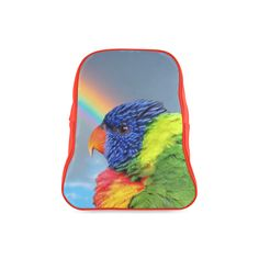 Rainbow Lorikeet School Backpack. FREE Shipping. FREE Returns. #lbackpacks #parrots