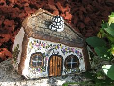 Painted+Rock+Houses | painted house on a rock