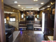 living quarters horse trailer - someday with fireplace Trailer Diy, Trailer Remodel, Horse Stables, Horse Barns, Horse Transport, Rodeo Life, Dream Barn, Horse Trailers, House On Wheels