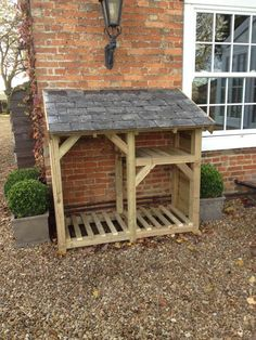 Log Store - Heavy Duty Bespoke Timber Log Store - Free Delivery and Assembly in Garden & Patio, Garden Structures & Shade, Other St… (With images) Outdoor Firewood Rack, Firewood Shed, Firewood Storage, Outdoor Storage, Diy Storage Garden, Small Garden Storage Ideas, Log Shed, Timber Logs, Yard Sheds