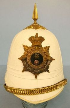 Victorian, Loyal North Lancashire Regiment Officer's Tropical Service Helmet Wit Victorian, Loyal North Lancashire Regiment Officer's Tropical Service Helmet Wit Accessories
