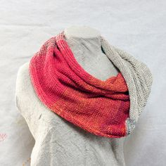 Chunky Knit Cotton Infinity Scarf  Rainbow  for by WrapturebyInese, $50.00