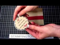 Santa's List Treat Holders, Kay Kalthoff, Stamping to Share, Stampin' Up!, How To Video