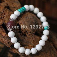 Elegant White Stone And Turquoise Bracelets For Women