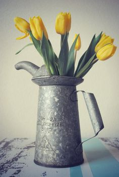 Super Cool Old Galvanized Oil Can Industrial by JunkLoveandCo, $25.00 Repurposed Flower Vase