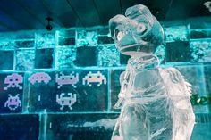 Escultura de ET en hielo.