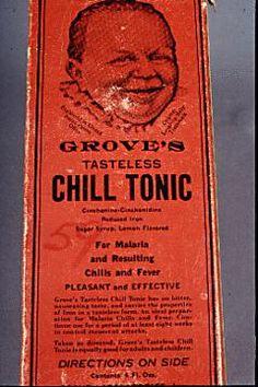 Grove's Tasteless Chill Tonic label