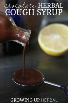 How To Make A Delicious, Chocolate Herbal Cough Syrup | Growing Up Herbal | If your kid is coughing, this chocolate herbal cough syrup is just what Dr. Mom ordered! Plus, your kids will love it!: