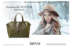 Fall Winter Collection - model AVENA http://goo.gl/NPmv6L #winter #accessories #handbag #details