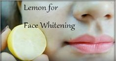 How to use lemon as face whitening moisturizer . Substances: ½ teaspoon aloe vera gel ½ teaspoon almond oil 1 tablespoon lemon juice Education and use: Mix all components nicely and observe the combination...