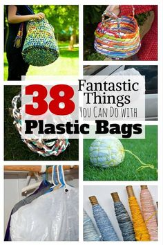 Plastic bags are very useful for everyday tasks, but they often seem to be everywherein the kitchen. Before you throw them all away, think of their impact on the environment.Plastic bags are piling up on the streets and Reuse Plastic Bags, Plastic Bag Crafts, Plastic Bag Crochet, Plastic Grocery Bags, Plastic Plastic, How To Recycle Plastic, Folding Plastic Bags, Uses For Plastic Bottles, Plastic Bag Storage