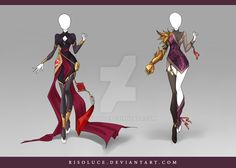 (OPEN) Adoptable Outfit Auction 107-108 by Risoluce.deviantart.com on @DeviantArt