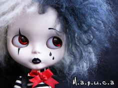 Mime by ☆ Mapuca ... breathtaking! #dolls #dollies #collectables #toys #handmade #ooak #blythe