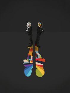 daft punk-inspired art show. love this cool piece by artist jason ratcliff.