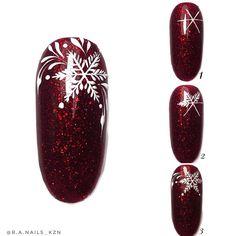 - Christmas Nail Art Designs - Hybrid Elektronike - New Ideas Diy Christmas Nail Art, Holiday Nail Art, Christmas Nail Art Designs, Winter Nail Art, Winter Nail Designs, Winter Nails, Winter Christmas, Winter Holidays, Manicure Nail Designs