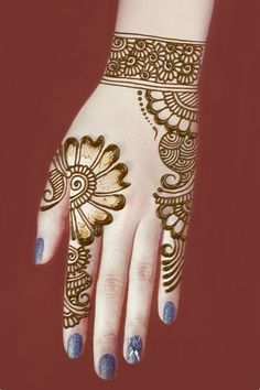 A beautiful mehndi designs for hands hope you like this simple henna designs Very Simple Mehndi Designs, Henna Tattoo Designs Simple, Mehndi Designs For Kids, Back Hand Mehndi Designs, Mehndi Designs 2018, Mehndi Designs For Beginners, Mehndi Design Photos, Mehndi Simple, Mehndi Designs For Fingers