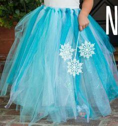 DIY no-sew Elsa (Disney-Frozen) tutu -  costume / Elsa szoknya egyszerűen varrás nélkül (Jégvarázs -Disney) / Mindy